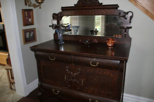 Antique Oak Buffet Excellent Condition