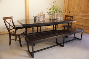 Reclaimed Wood and Iron Dining Table. By LIKEN Woodworks
