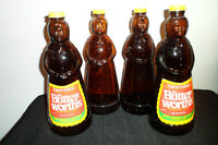 Mrs. Butter-Worth 11 Inch Vintage Glass Bottles