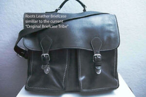 Roots Leather Briefcase in Excellent Condition