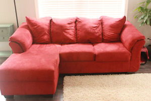 Red lounger couch