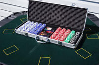 Poker Table Top & Lots of Chips (with case)