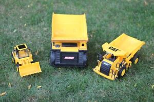 Toy Dump Trucks and Digger