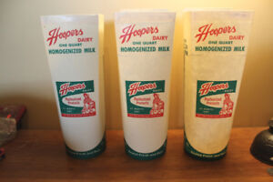 Vintage Hoopers Dairy Milk Containers - St. Marys