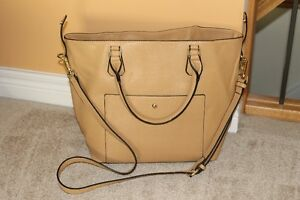 Butter colored large purse/bag