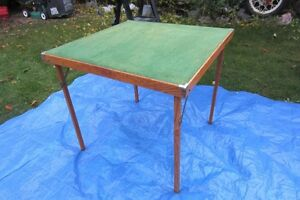 Oak framed folding table!!