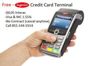 Giving away free credit card machine wireless or desktop