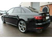 2017 BLACK AUDI A4 1.4 TFSI 150 S LINE MANUAL SALOON CAR FINANCE FR £273 PCM