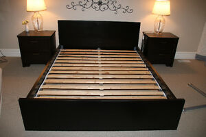 Queen bed Frame and wooden slats