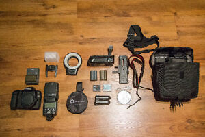 Canon 50d with many items