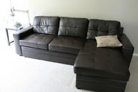 Leather Chateau Sofa with Lift-Top Chaise