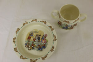 BUNNYKINS DISHES BY ROYAL DOULTON