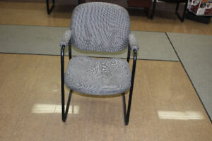Office Chairs - Grey fabric - Great for reception area