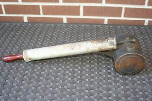 "Vintage Brass + Steel Insecticide Sprayer - 20"" long"
