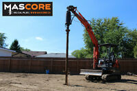 Helical Screw Pile Foundations- No more Concrete Posts!