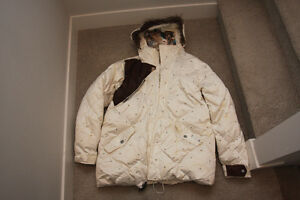 BURTON RONIN AUDIO STROLL DOWN PEARL WHITE SKI SNOW JACKET XL