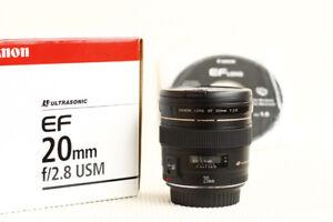 Brand New in Box Canon EF 20mm f2.8 USM Prime Lens PRICE DROP