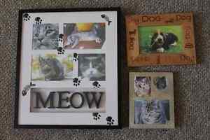 Three pet frames (cats and dogs)