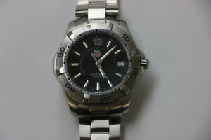 **STYLISH ** TAG Heuer Men's WAF1110 2000 Aquaracer Quartz Watch