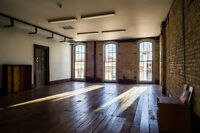 Beautiful artistic studio space for events