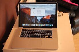 "MacBook Pro 15"" i7 8gb ram 240gb ssd good condition"
