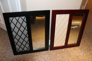 2 Message Boards with inset Mirror