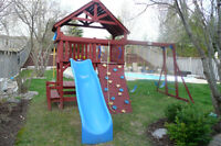 17' x 15' Outdoor Hardwood Playset by SunRay