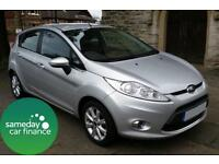 £131.33 PER MONTH SILVER 2011 FORD FIESTA 1.25 ZETEC 5 DOOR MANUAL PETROL