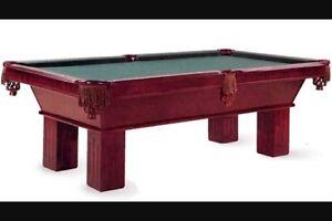 James Edward Beringer pool table (parts)