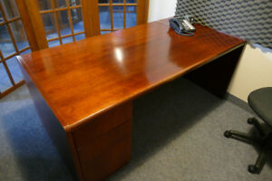 Solid Wood Desk with add-ons