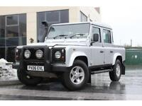 2006 06 LAND ROVER DEFENDER 110 110 2.5 TD5 SILVER DOUBLE CAB DIESEL