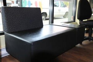 Office furniture: lobby half-sofa and matching chair