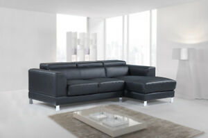 Condo Size Leather Sectional adjustable headrests,