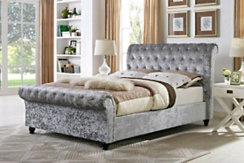 Single, Double, King Sleigh bed frame (mattresses available)