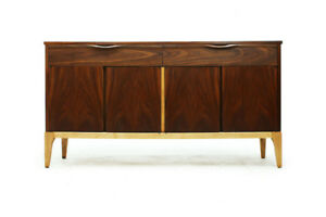 Walnut Four Door with Drawers Sideboard MCM