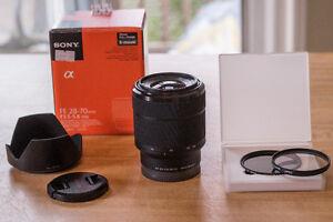 Sony 28-70mm FE Lens E Mount w/ Filters & Hood. As new!