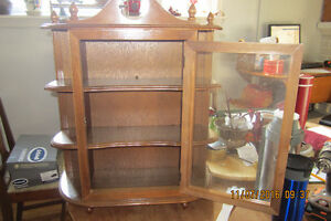 Antique Hanging Curio Cabinet