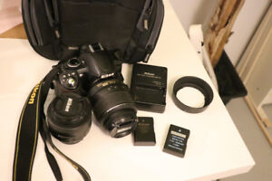 NIKON D3100 DSLR CAMERA WITH TWO LENSES INCLUDED