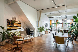 Grand loft/ appartement 2000 pc2 Plateau Mont-Royal