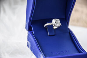Custom Tacori engagement & wedding band set