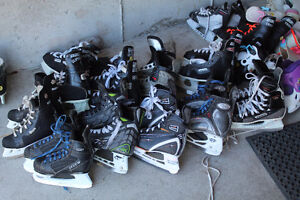 Adult, youth, kids skates. Lots of sizes. free sharpen card
