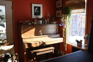 Older Upright Solid Wood Piano