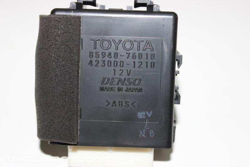 2012 LEXUS CT 200H / WINDSHIELD WIPER CONTROL MODULE 85940-76010