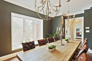 Large Restoration Hardware Dining Table and Chairs For Sale