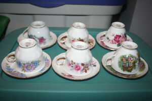 Cups and Sauces by Queen Anne Bone China from England
