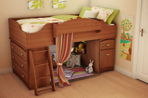 South Shore Imagine Twin Loft Bed with Twin Mattress