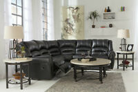 2pcs Ashley Recliner Sectional Set Lowest Prices Guaranteed