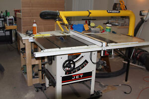Jet Sliding Table Cabinet Saw + Accessories