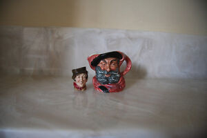 2 VINTAGE ROYAL DOULTON TOBY MUGS JUGS