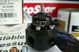 Universal AEM Fuel Pressure Regulator 25-302 BK Regulateur . New